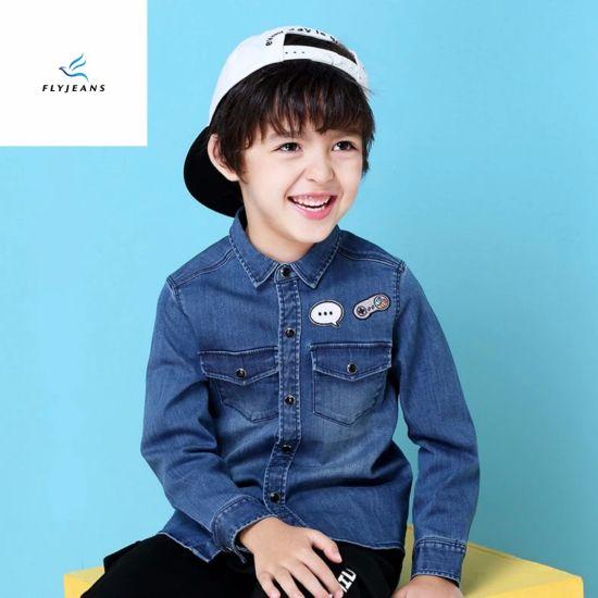 b7773456cbce China New Style Comfortable Boys′ Long Sleeve Denim Shirt by Fly ...