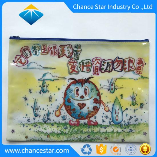 Custom Printing Recyled Plastic PVC Mesh Grid Zip Bag