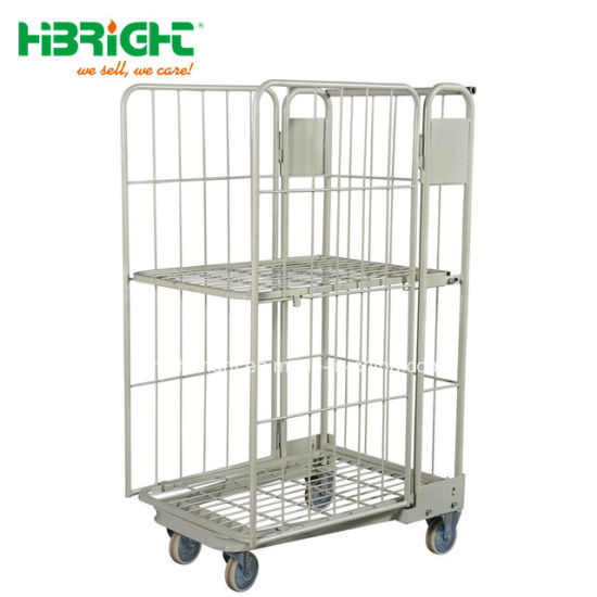 Heavy Duty Storage Trolleys Warehouse Trolley Roll Container Roll Cages  Roll Pallet Cage