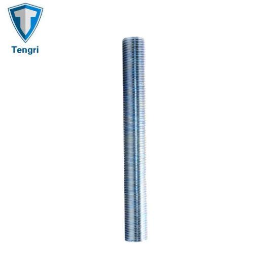 Zinc Plated Carbon Steel Stud Bolt Threaded Bars Building Rod