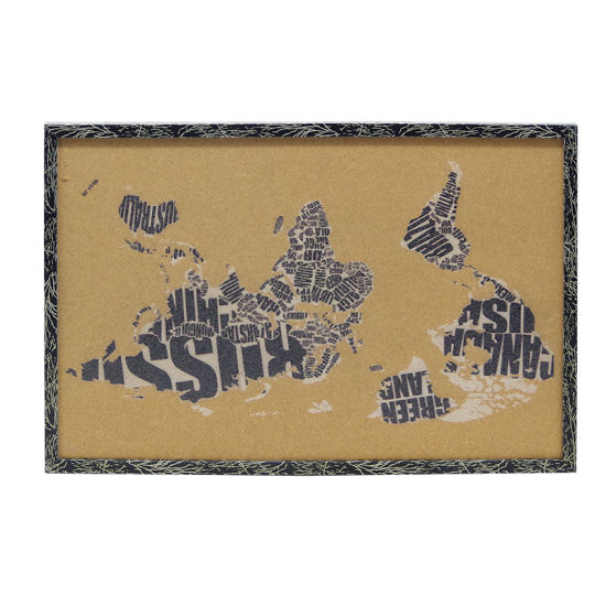 China Imprinting Bulletin Corkboard with Wooden Frame-World Map ...