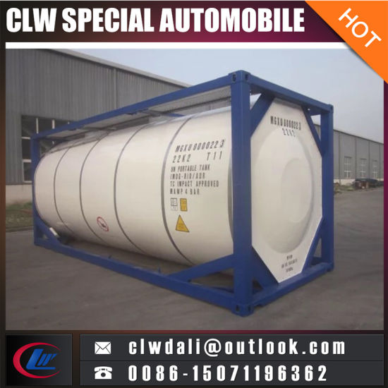 China 40FT 20FT Liquid Gas Storage ISO Tank Container China ISO