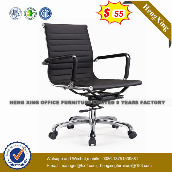 Leather High Back Manager Chair Chrome Metal Office Chair (HX-802B) pictures & photos