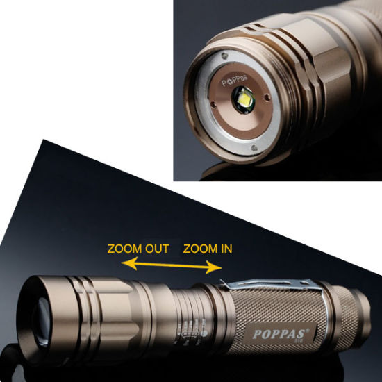 10W CREE Xm-L T6 High Power Aluminum LED Torch (POPPAS-S10) pictures & photos