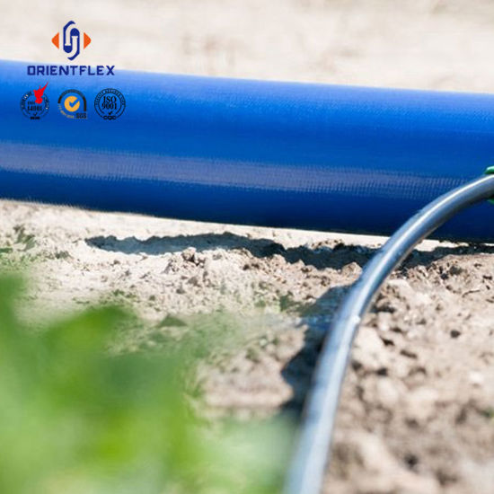 Blue Light Agriculture Irrigation Water Discharge PVC Layflat Hose 4bar pictures & photos