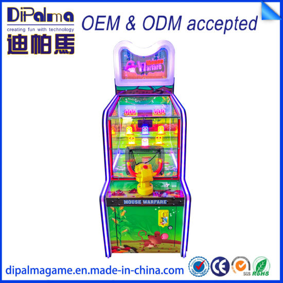 Pest Mouse Warfare Coin Operated Shooting Ball Video Lottery Ticket Redemption Game Machine