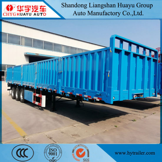 Side Wall Container Cargo Transport Truck Semi 40FT Flatbed Trailer