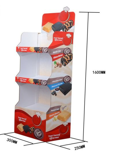3 Layer Customized Printed Corrugated Toy or Food Display Stands