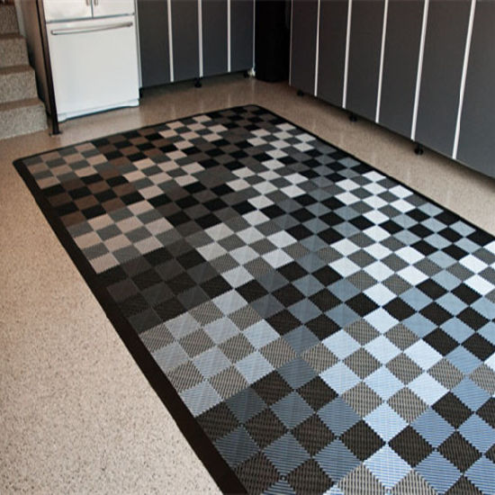 China Free Flow Garage Interlocking Plastic PP and PVC Floor Tiles ...