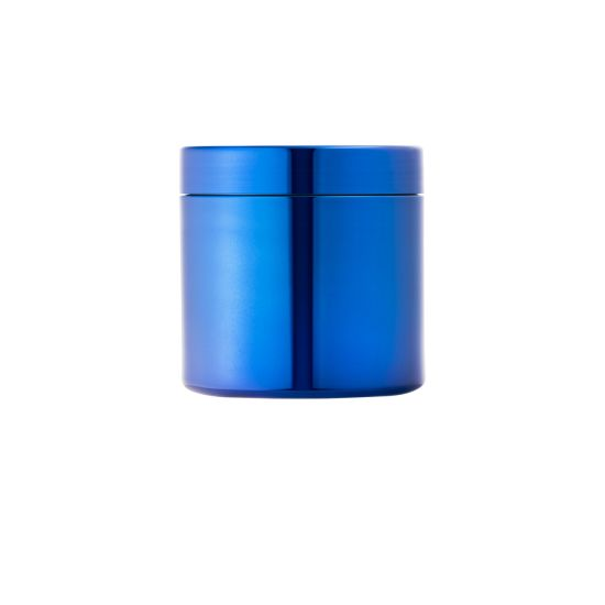 16oz HDPE Blue Metalization Plastic Capsule Canister