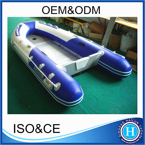 PVC Inflatable Boat Hypalon Inflatable Boat with Aluminum Deck