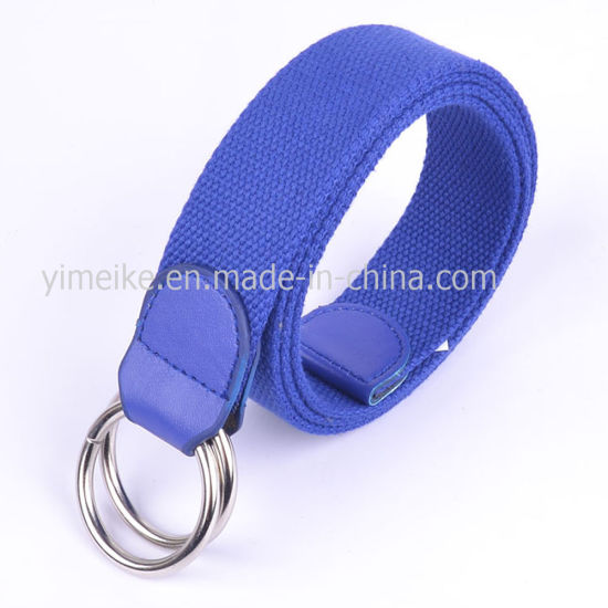 Factory Price New Design Double Loop Buckle Man Fabric Belt