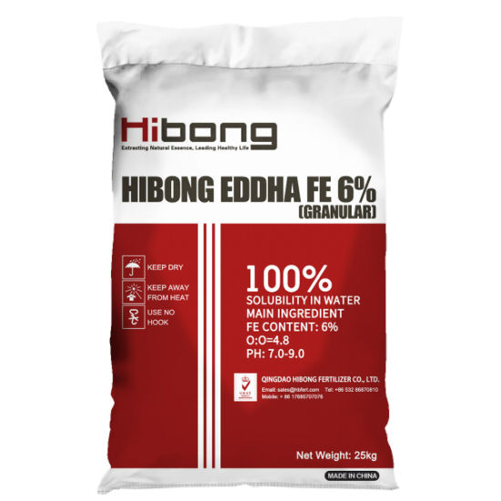 EDDHA Fe 6%, Chelated Iron Fertilizer for Agriculture
