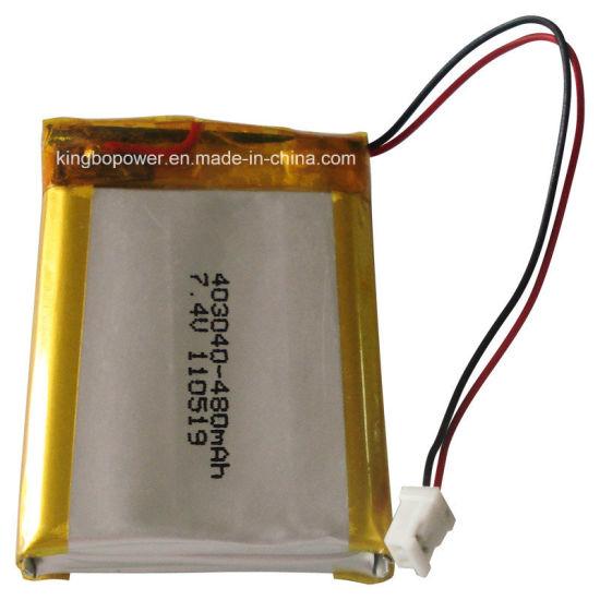 Custom Lipo 3.7V 480mAh Lithium Polymer Battery