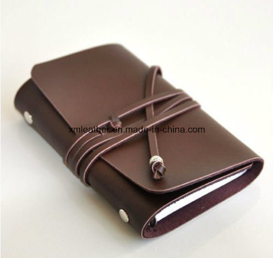 A5 Rustic Leather Strap Bound Travel Diary with Ring Binder