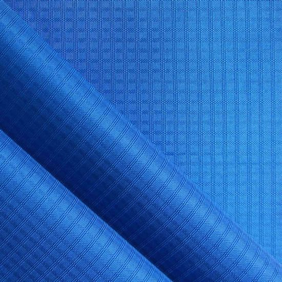 Shiny Oxford Triple Line Ripstop Polyester Fabric