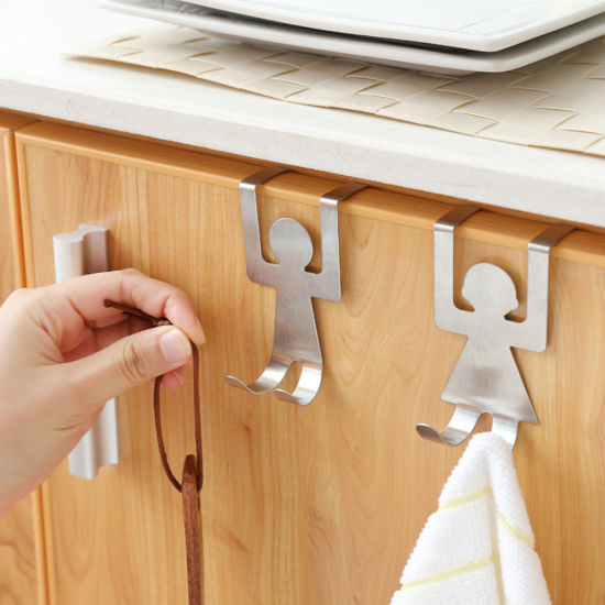 Stainless Steel Hooks Lovers Shaped Hook Kitchen Hanger Clothes Storage Rack Tool Reusable Easy to Use