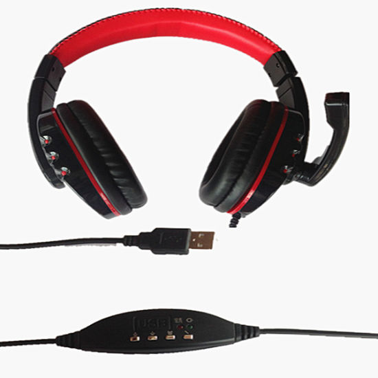 Top Sound Quality VoIP Headphone Via USB Connection to PC pictures & photos