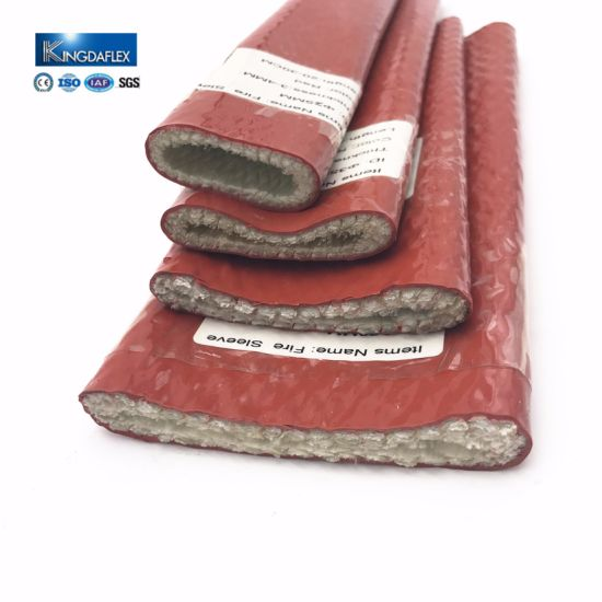 Fiberglass and Silicone Coated Fire Sleeve for Power Plant