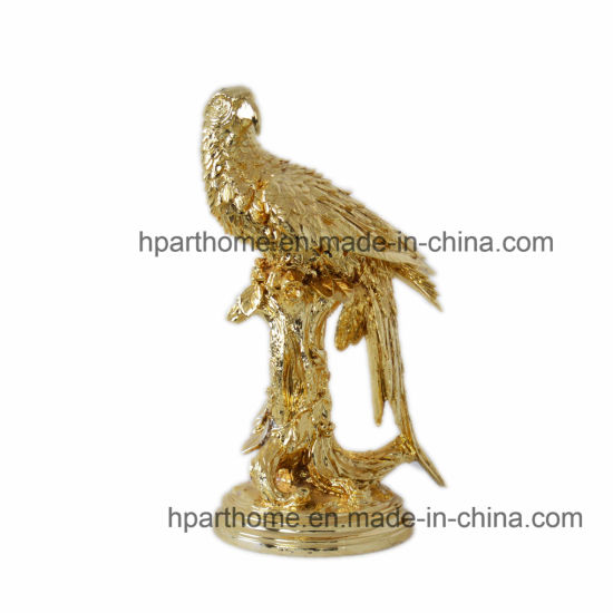 Art Home Decoration Resin Gold Silver Eagle Sculpture Animal Craft