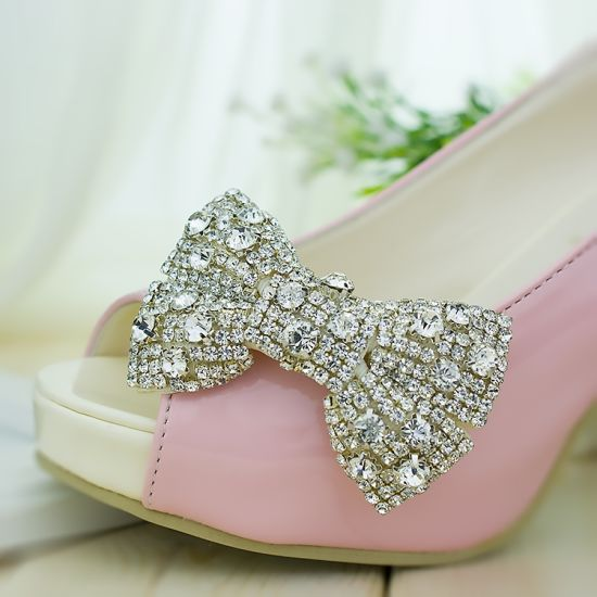 Wholesale Fashion Crystal Clip On Shoes Rhinestones Ornament Charms Buckles  For Wedding Shoes