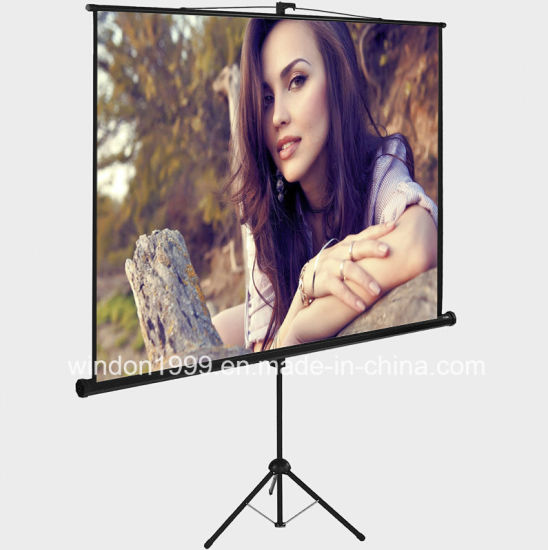 636cff239ba85b Competitive Price 70X70 Inch Tripod Projector Screen for Sale pictures &  photos