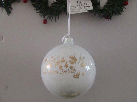 2018 Christmas Glass Ball with Decal on Ball