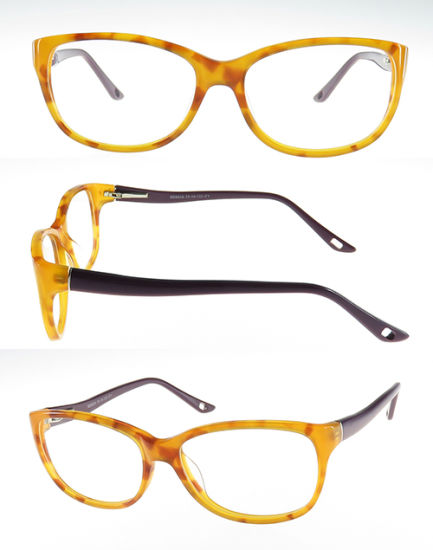 High Quality Acetate Optical Frame with Double Color for Woman
