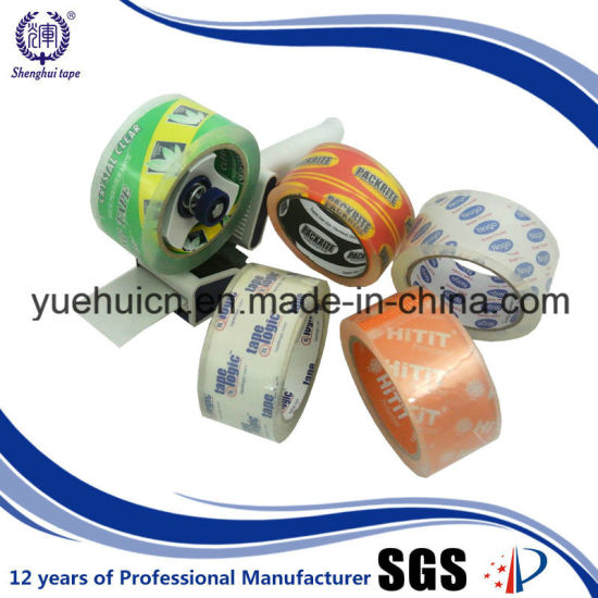 Top Roll Famous Brand 48mm X 90yard BOPP Crystal Clear Packing Tape pictures & photos