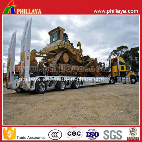 Tri-Axle 100ton Low Bed Trailer pictures & photos