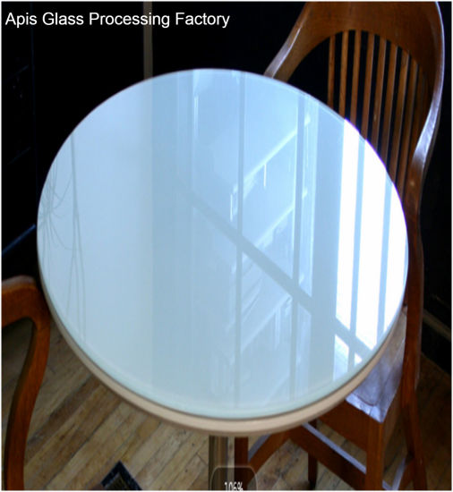 China Mm Mm Circle Colored Printed Tempered Glass Table Tops - Oval table top protector