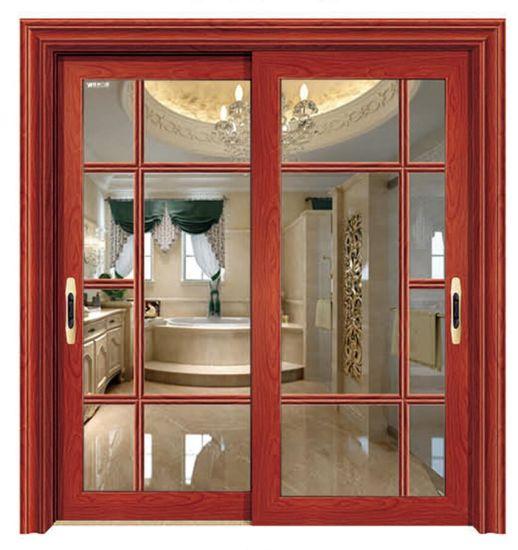 Reasonable Price Aluminum Sliding Door Safety Door Design with Grills Inside & China Reasonable Price Aluminum Sliding Door Safety Door Design with ...