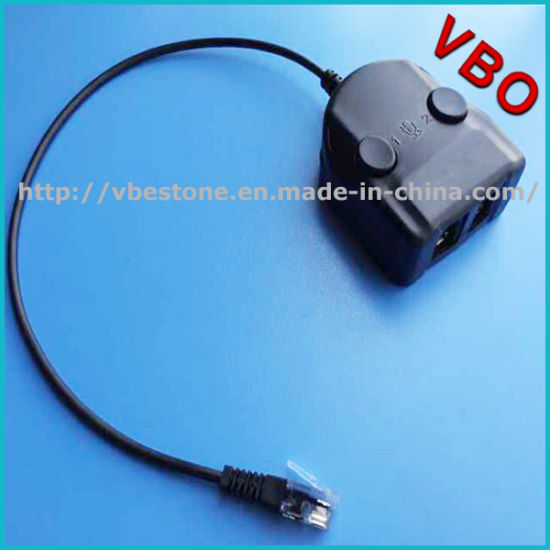 China New Call Center Rj9 Headset Training Adapter with Mute