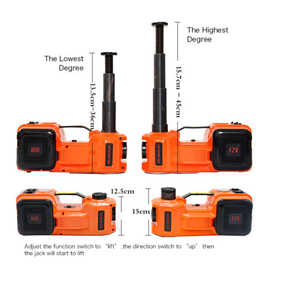 Portable5 Tons 12V Electric Hydraulic Lift Car Jack with Air Compressor pictures & photos