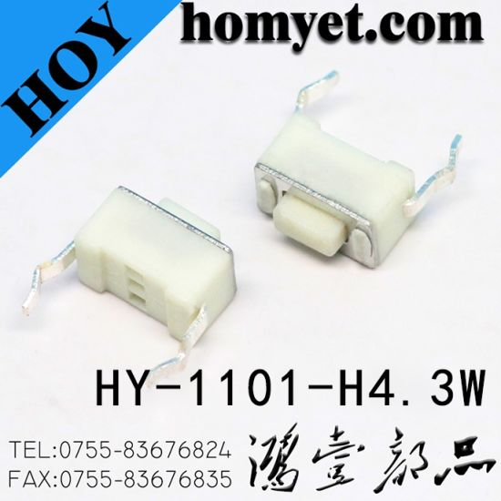 High Quality 2pin DIP Type Rectangle Tact Switch /Touch Switch pictures & photos