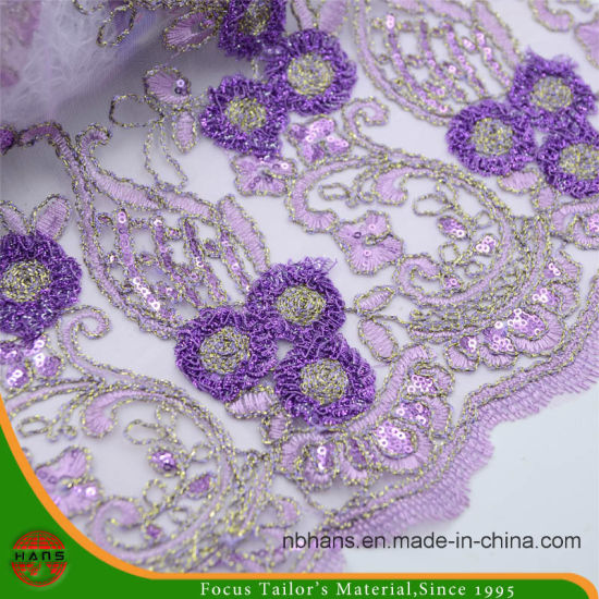 Embroidery Nylon Mesh Fabric for Garment (HAEF160012) pictures & photos