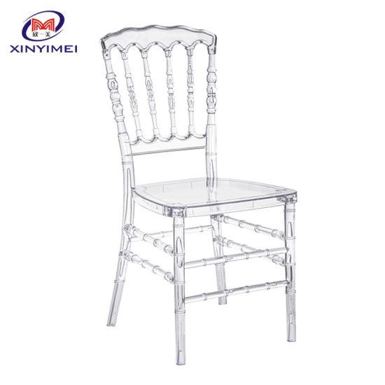 High Quality Resin Chiavari Napoleon Chair for Wedding Receptions Rental