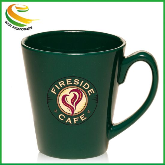 12 Oz Customized Promotional Embossed Ceramic Coffee Mug