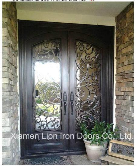 Eyebrow Top Hot Selling Wrought Iron Interior Door Home Design