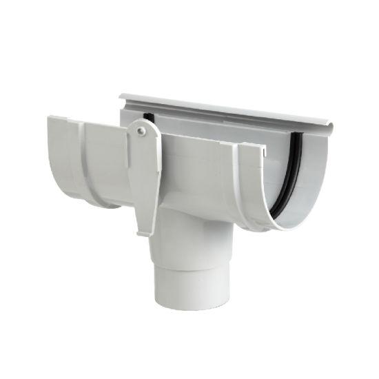 UPVC Kitemark Certificate DIN Standard Rainwater Fittings 125mm Roof Gutter Straight Tee