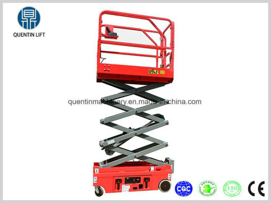 6m Mobile Aerial Electric Ladder / Self-Propelled Scissor Lift Platform