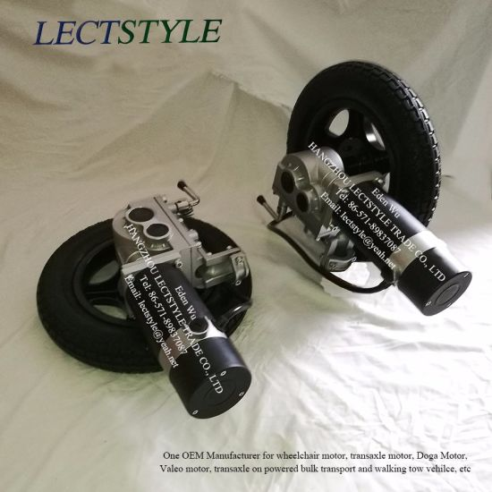24V 276W 120rpm Left & Right Power Electric Wheelchair Motors with Joystick Lever & Controller pictures & photos