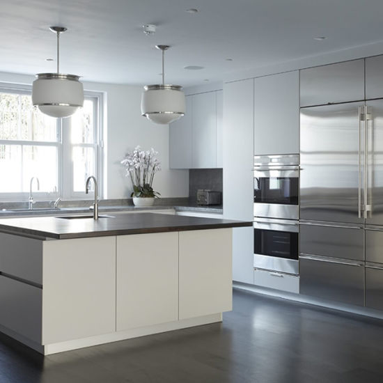 Modern Style White Uv Lacquer Luxury Kitchen Island Cabinet
