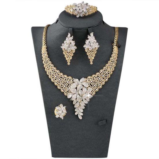 Guangzhou Artificial Jewelry Cheap Price Afican Bridal 18k Gold