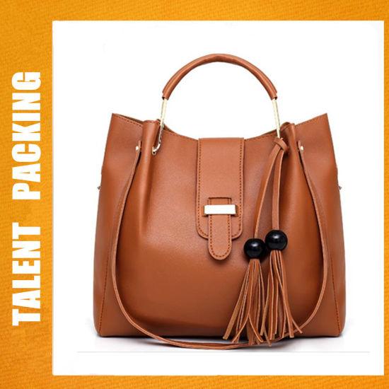 04fe3fe69f China Factory PU Leather 3PCS Set Fashion Lady Female Women Tote Bag ...