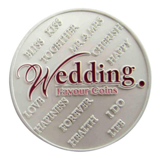 Custom Best Wish Metal 999 Sterling Sliver Wedding Favour Coin 173