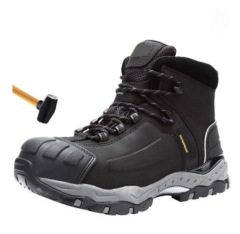 High Ankle Safety Shoes with Steel Toe Cap, Safety Shoe