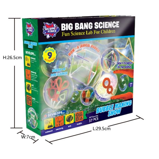 Science DIY Educational Kits Toy for Kids Bubble Making Show