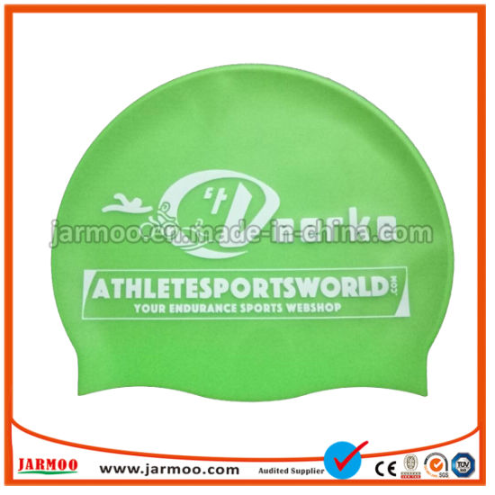China Sport Style Wholesale Print Silicone Swimming Caps