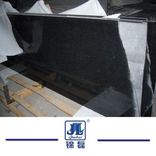 Polished/Flamed/Honed/Bush-Hammered Black G684 Granite for Flooring/Walling/ Countertops/Steps